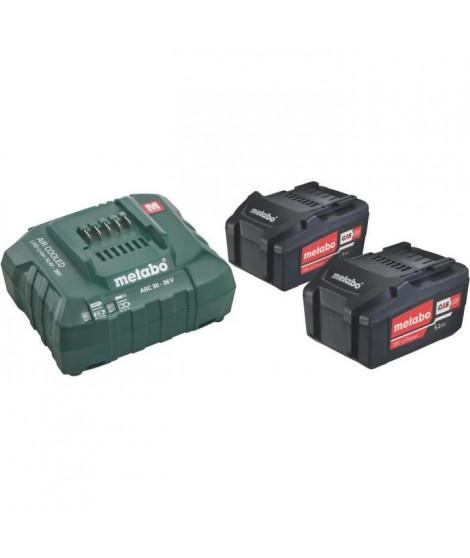 METABO Pack energie - 2 x 5.2 Ah + chargeur ASC 30-36