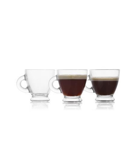 RECEPTION Lot de 6 Tasses Expresso en Verre 9.5 cl Café roma