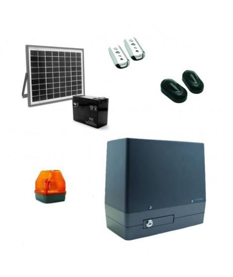 AVIDSEN Kit de motorisation Orea pour portail coulissant 8 m/350 kg max avec kit solaire 654312