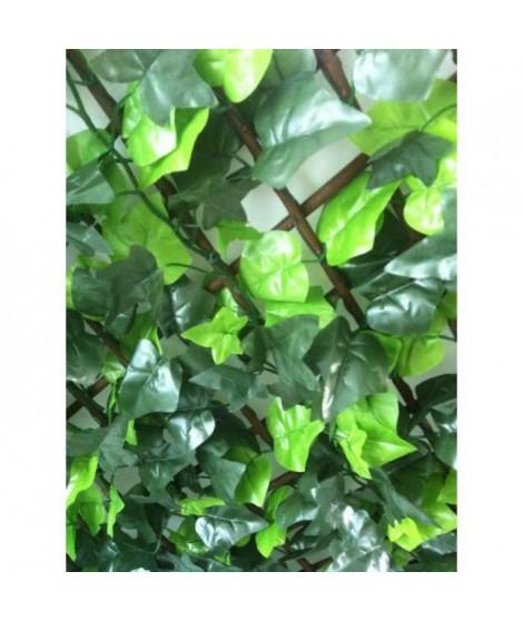 IDEAL GARDEN Treillis extensible Osier - Avec feuilles artificielles type Lierre - 1 x 2 m