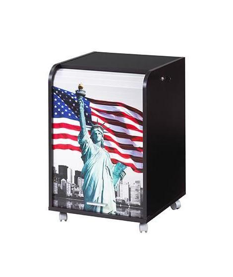 Caisson de bureau 2 tiroirs Contemporain - Noir Liberté - L 47,2 cm