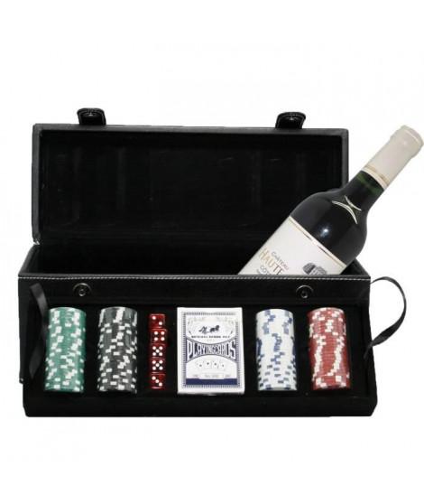 Malette Noir Poker et Vin de Bordeaux