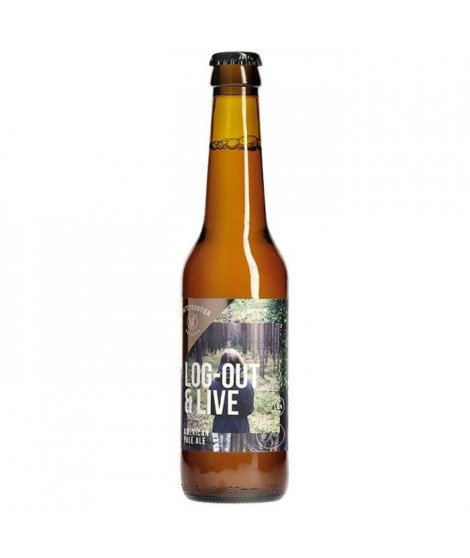WHITE FRONTIER - Log-out & Live - Biere Ambrée - 33 cl