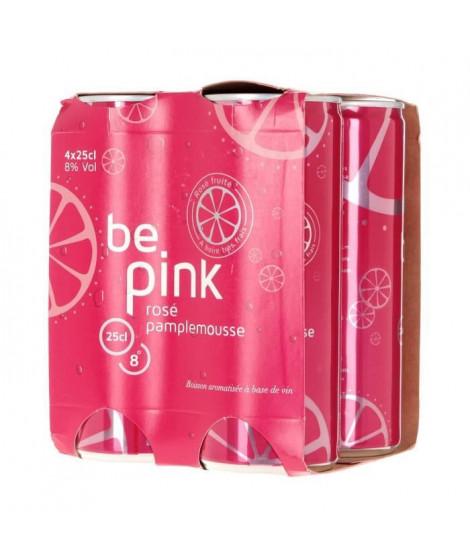 Boisson a base de Vin - Rosé Pamplemousse - cannettes 4 x 25 cl