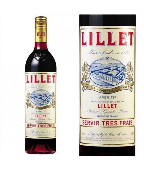 LILLET Rouge Apéritif a base de vin - 75cl - 17 %