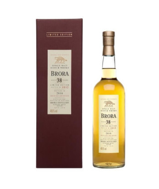 Whisky Brora 38 ans d'âge Edition Limitée 2016 Single Malt d'Highlands - Ambré - 48,6° - 70 cl