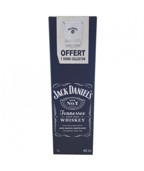 Jack Daniel's N°7  - Tennessee Whisky - 40%vol - 70cl - Coffret avec 1 verre collector