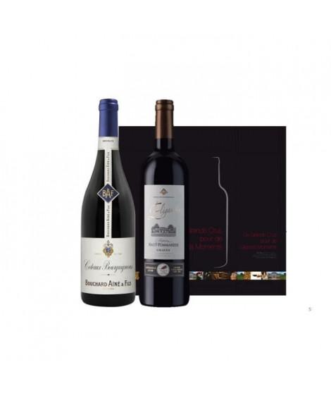 Coffret Duo Bordeaux Bourgogne Rouge