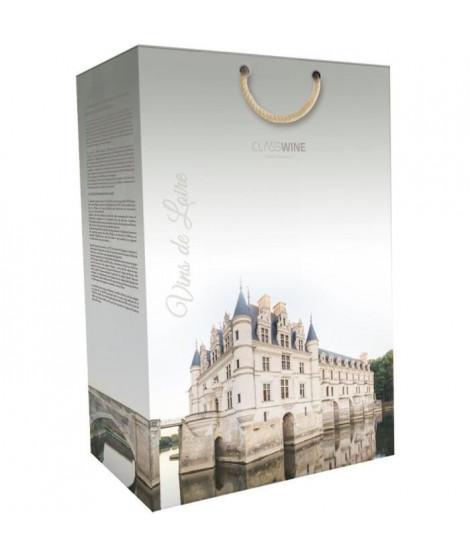 CLASSWINE Pochette pour 2 bouteilles vin de Loire Chenonceau