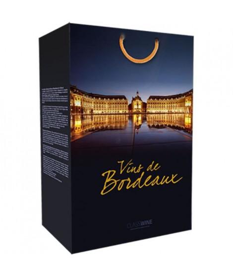 CLASSWINE Pochette pour 2 bouteilles vin de Bordeaux La Bourse