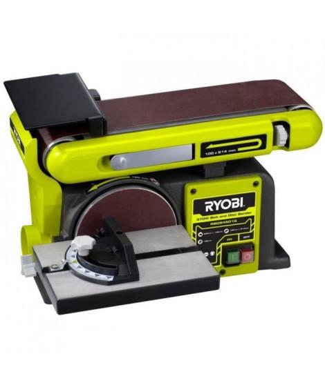 RYOBI Ponceuse a bande et a disque 370 Watts