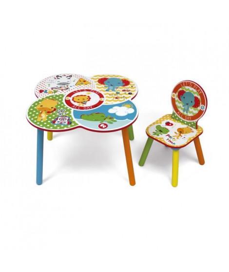 FISHER PRICE - Table et 1 chaise en bois