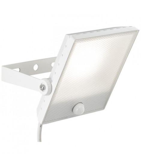 BRILLIANT Projecteur LED avec détecteur DRYDEN - 1x30W - Coloris blanc