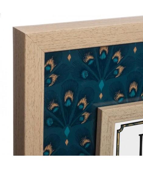 Pele Mele 4 photos - 46 x 46 cm - Bleu