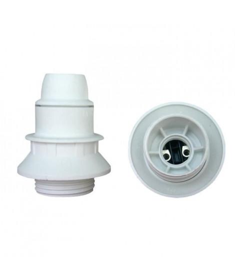 Douille E14 thermoplastique 1 bague blanc