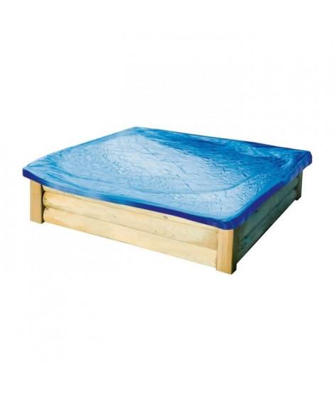 Bac a sable bois - 150 cm avec bâche et tapis - TOM TRIGANO