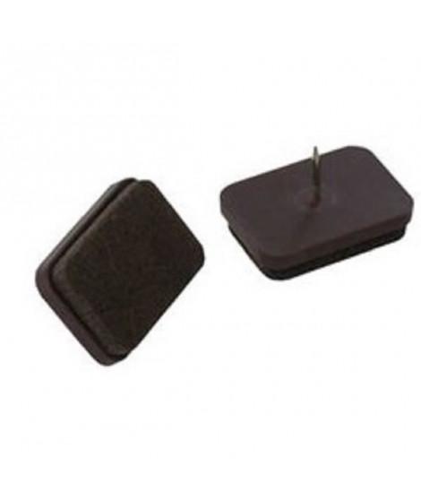 Lot de 4 Patins-feutres a pointe gris - Ø 22 mm