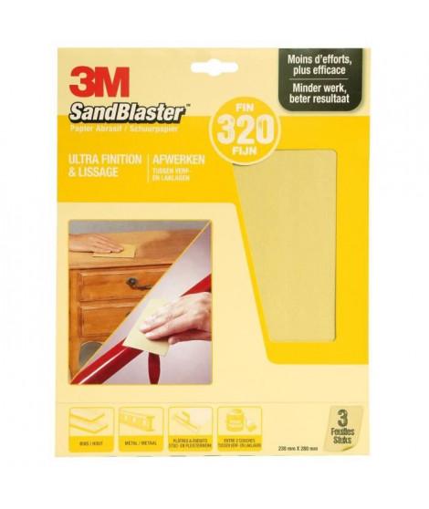 3M SANDBLASTER Papier abrasif - 230 x 280 mm - Grain : 320