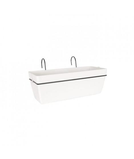 ARTEVASI Kit Jardiniere Capri - 12,8 L - 50,5 x 30,5 x 18,5 cm - Blanc