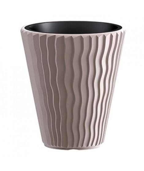 PROSPERPLAST Pot haut conique - Ø 349 mm - Marron moka