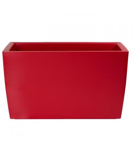ARTEVASI Jardiniere Marbella - 30,5 x 76 x H 45 cm - 32 L - Rouge