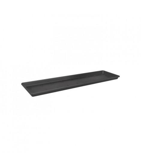 ELHO Soucoupe pour balconniere Green Basics 80 - Extérieur & Balcon - Ø 77,3 x H 2,4 cm - Vivre noir