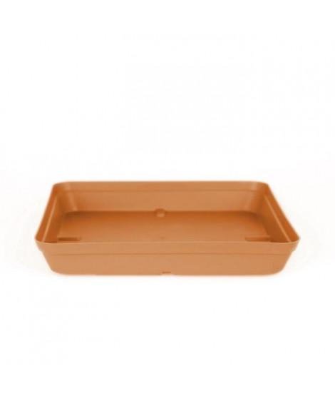 ARTEVASI Soucoupe Capri Carrée - 2,7 L - 28 x 28 x 4 cm - Terre cuite claire
