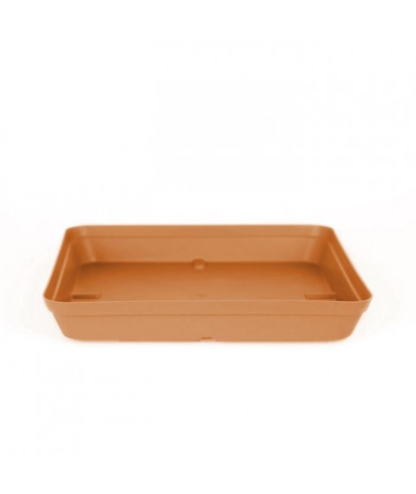 ARTEVASI Soucoupe Capri Carrée - 34 x 34 x 4,5 cm - Terre cuite claire