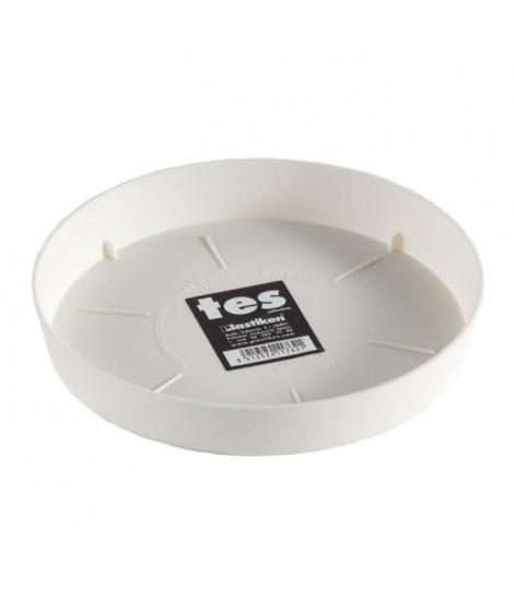 PLASTIKEN Plateau 17 cm - Pour pot de fleurs 22 cm - Blanc