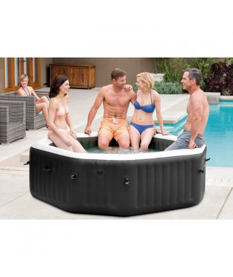 INTEX Pure Spa 28458EX Carbone 4 places