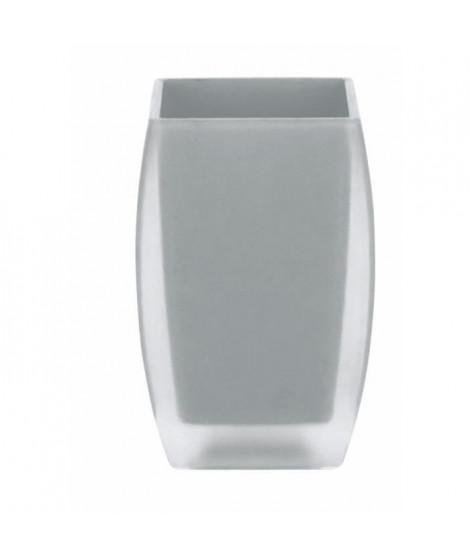 SPIRELLA Gobelet salle de bain Freddo - 10,5 x 7 x 7cm - Gris