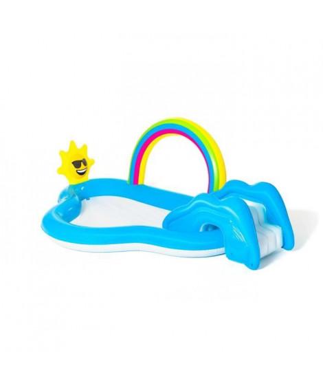 BESTWAY Aire de jeux avec pataugeoire Rainbow 'n Shine 257 x 145 x 91 cm