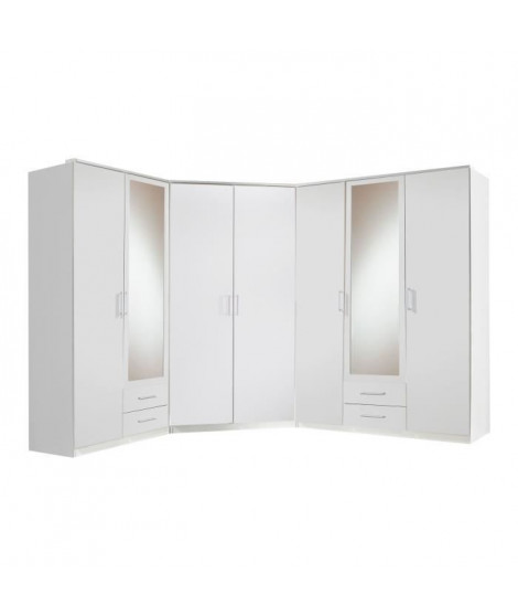 OSAKA Dressing d'angle - Classique - Décor blanc - L 245 cm