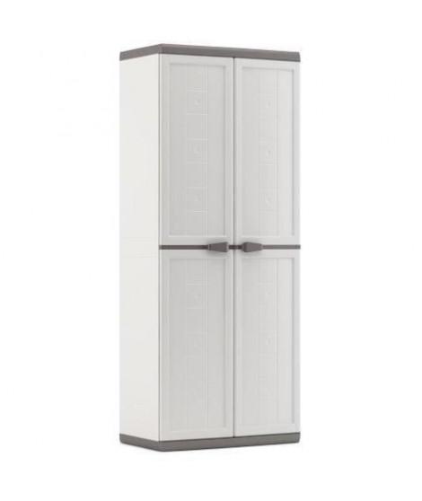KETER Armoire haute JOLLY - Blanc et Gris - 68 x 39 x 166 cm