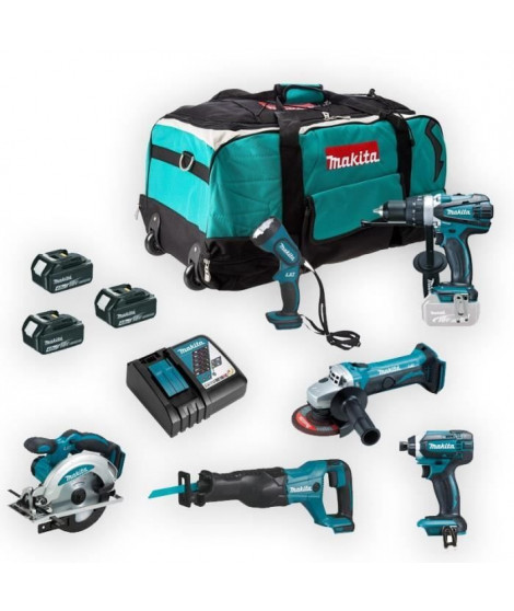 MAKITA Pack 6 machines 18 V Li-Ion 4Ah  - DLX6045M