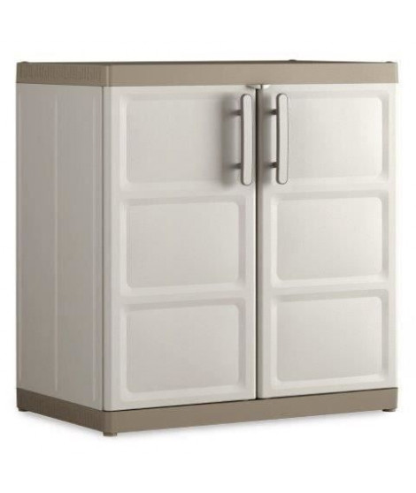 KETER Armoire basse XL EXCELLENCE - Beige et Taupe - 89 x 54 x 93 cm