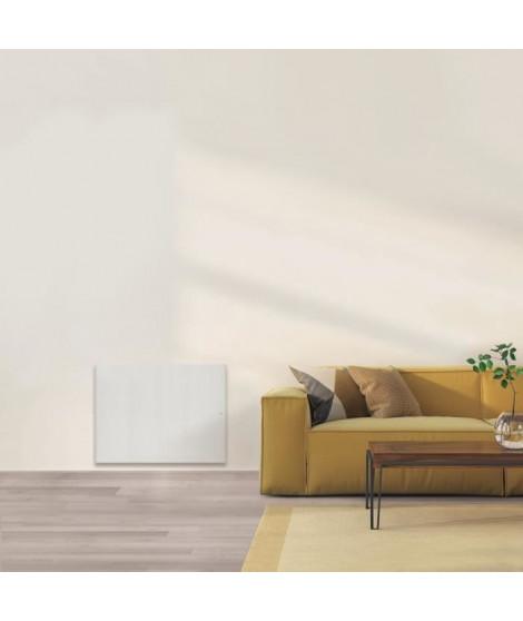AIRELEC COXY A694207 Radiateur a Inertie Réfractite - Horizontal 2000W - Coloris Blanc - Fabrication Française - Programmable