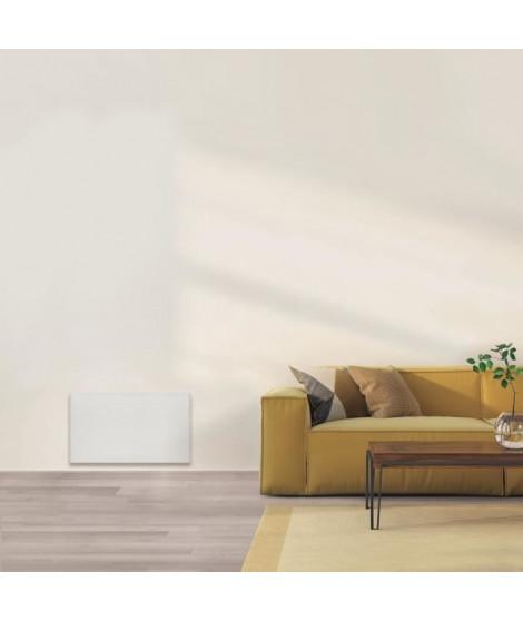 AIRELEC COXY A694223 Radiateur a Inertie Réfractite - Bas 1000W - Coloris Blanc - Fabrication Française - Programmable