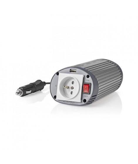 NEDIS Convertisseur d'alimentation 12 V c.c. - 230 V c.a. - 150 W - 1 Borne de terre/1 Sortie USB