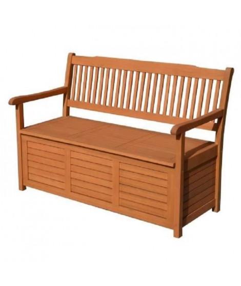 Banc de jardin avec rangement 164L - En acacia FSC - 127,5 x 63 x 90 cm - Hauteur d'assise 107 cm