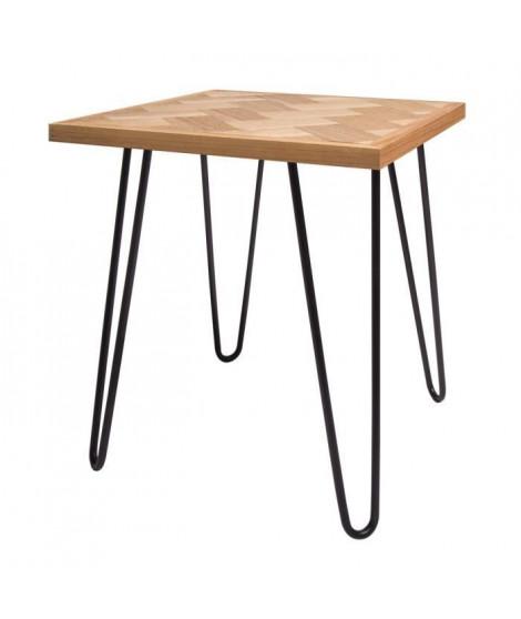 HOLLY Table d'appoint - Bois naturel - L 40 x P 40 x H 43 cm