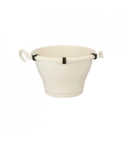 ELHO Pot de fleurs a suspendre Corsica 30 - Blanc - Extérieur & Balcon - Ø 29,4 x H 21,1 cm