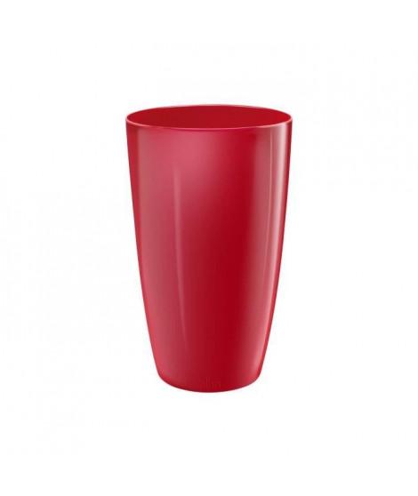 ELHO Pot de fleurs Brussels 22 - Diamond rond et haut - Beau rouge - Intérieur - Ø 22,4 x H 32,4 cm