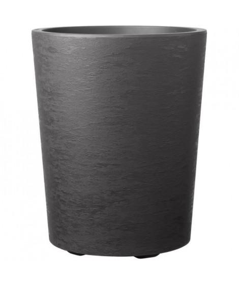 DEROMA Pot de fleur Vaso Gravity avec réserve d'eau H 53,5 cm - Gris carbone
