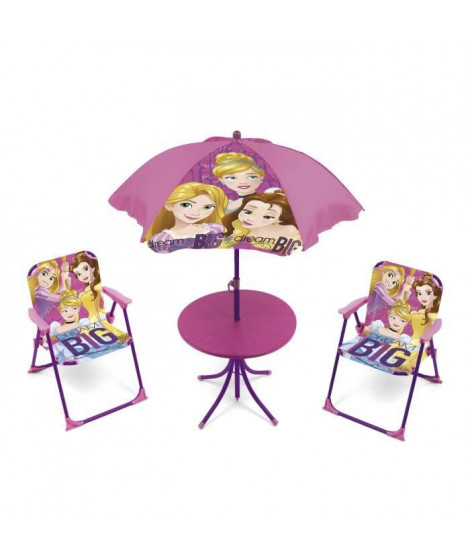 DISNEY PRINCESSES - Salon de jardin 4 pieces enfants