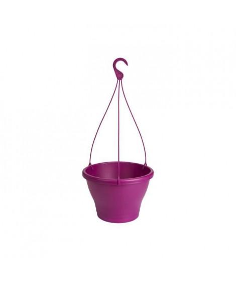 ELHO Pot de fleurs a suspendre Corsica 30 - Rose cerise - Extérieur & Balcon - Ø 29,4 x H 21,1 cm