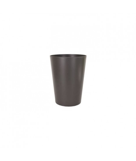 ARTEVASI Insert Pot de fleurs haut Porto Mate - 25 L - 37 x 37 x 33 cm - Gris anthracite