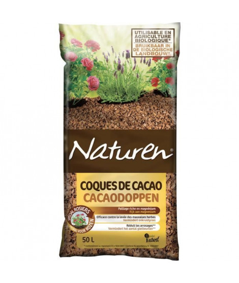 NATUREN Paillage Coques de Cacao - 50L