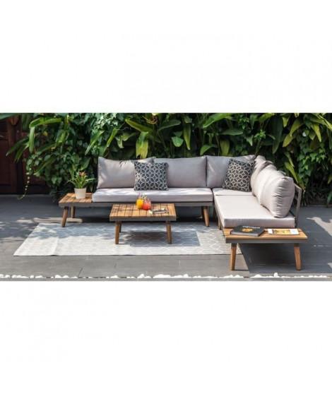 Salon de jardin en bois d'acacia FSC 6 personnes - CANAS