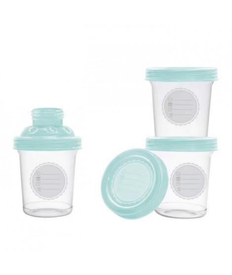 DBB REMOND 3 pots de conservation pour lait maternel - mint translucide